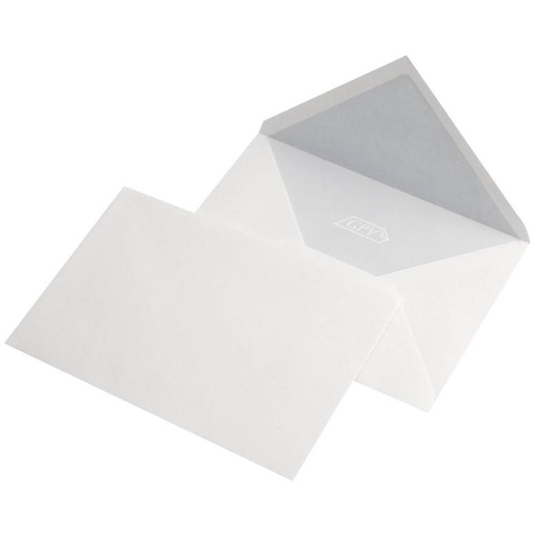 Set 100 plicuri C6, gumate albe, format 114 x 162 mm, 70 g/mp, clapeta V