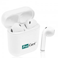 Casti Bluetooth pentru iPhone si Android, Touch Control, stand incarcare, USB, raza 10m