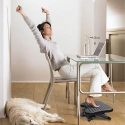 Suport ergonomic pentru picioare, suprafata antiderapanta, inaltime reglabila, negru