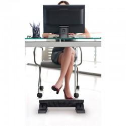 Suport ergonomic pentru picioare, unghi reglabil, suprafata antiderapanta, 45x35cm, negru