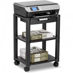 Stand mobil pentru imprimanta, suport pentru hartie si consumabile, manager cabluri, roti