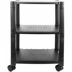 Suport mobil pentru imprimanta, 3 rafturi, sistem blocare roti, 43.5x33.5x62cm, negru