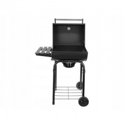 Gratar Grill pe carbune, termometru, suport accesorii, roti, capac cu maner, ustensile, Kaminer