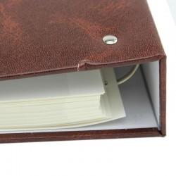Album foto cu 100 de pagini autoadezive, 23x28 cm, maro Resigilat