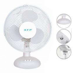 Ventilator de birou 25W, diametru 23 cm, 2 trepte de viteza, functie oscilare