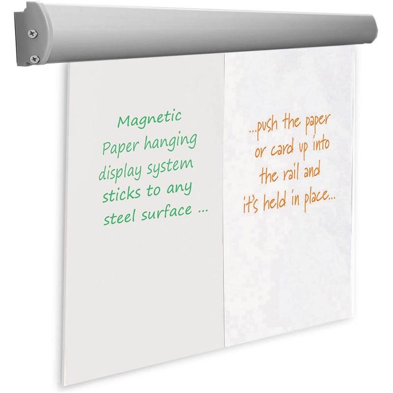 Suport magnetic pentru hartie flipchart, agatatori reglabile, 70 cm, ProCart