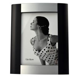 Rama foto format 13x18, o fotografie, lemn cu insertie metal, Resigilata