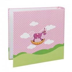 Album foto 200 poze, format 10x15, personalizabil, roz, Resigilat