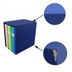 Set 3 albume  capacitate 600 poze, format 10x15, buzunare slip-in, husa tip cutie, Resigilat