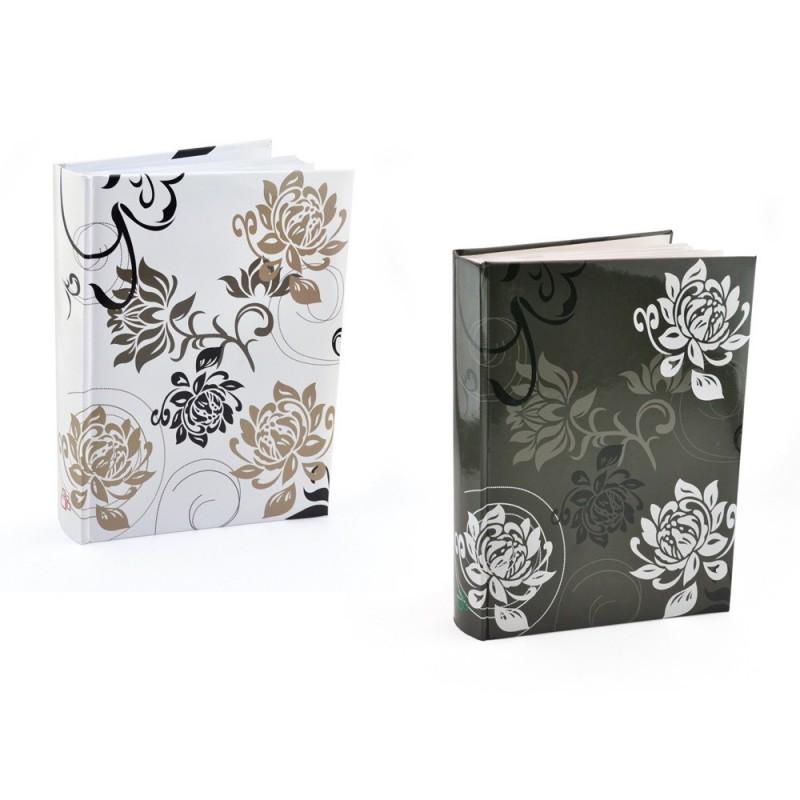 Album foto Black&White, 200 fotografii 10x15, model floral, etichete notite, legatura tip carte