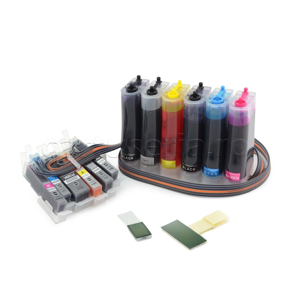 Sistem Ciss Pentru Canon Mg-7150 Mg-6350 Mg6300 Cerneala: Cu Cerneala Dye