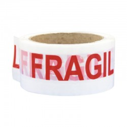 Banda adeziva imprimeu Fragile, rola 50mm x 66m, adeziv acrilic, ambalare si marcare colete