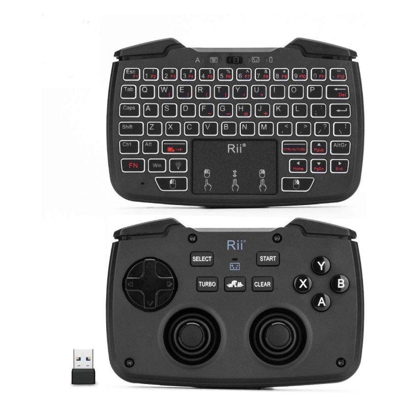 Mini tastatura wireless 3 in 1, touchpad, gamepad cu vibratii, turbo pentru PC, PS3, Android, TV Box, Smart TV