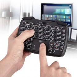 Mini tastatura wireless 3 in 1, touchpad, gamepad cu vibratii, turbo pentru PC, PS3, Android, TV Box, Smart TV