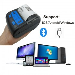 Imprimanta termica POS portabila, bluetooth, 58 mm, IOS, Android, Windows, 20 conexiuni simultane, Euccoi