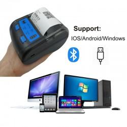 Imprimanta termica POS portabila, bluetooth, 58 mm, IOS, Android, Windows, 20 conexiuni simultane, Euccoi