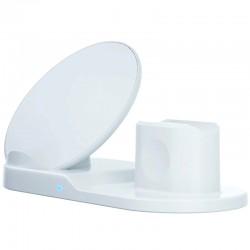 Statie incarcare Wireless Qi 3 in 1, conector Lightning, USB/USB-C, telefon, ceas, casti