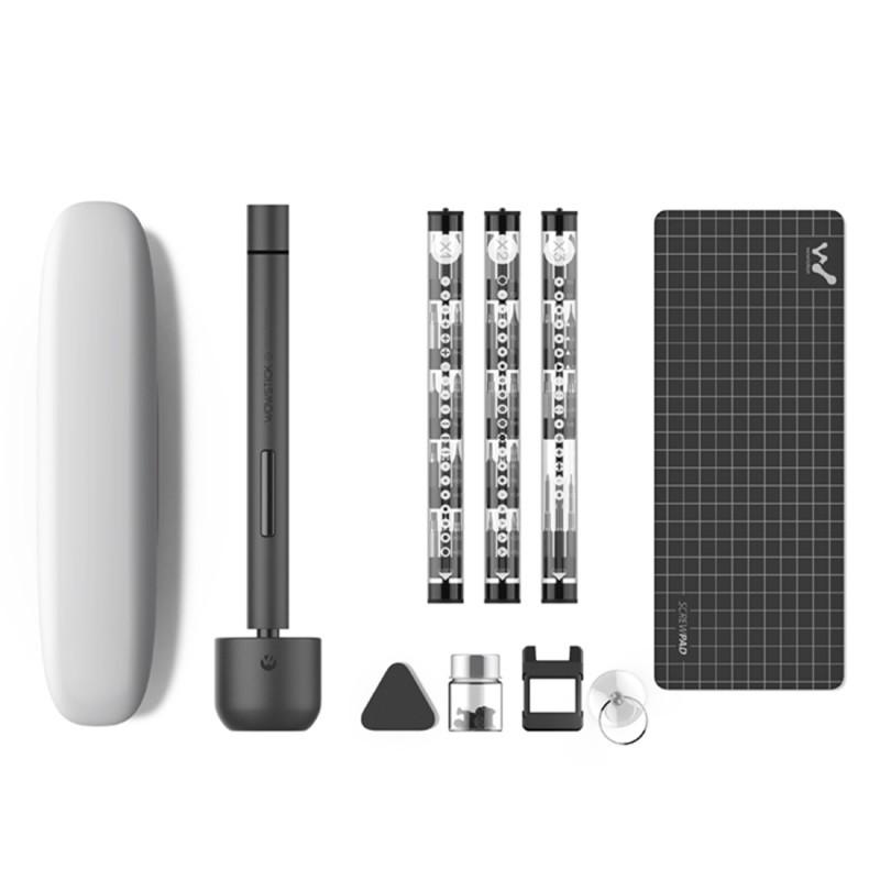 Surubelnita electrica cu Led Wowstick 1F, 69 in 1, pad de lucru, suport magnetic, 56 biti, Xiaomi