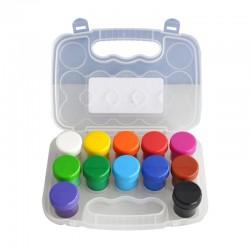 Acuarele guasa 12 culori, in cutie de plastic, 20 ml/tub