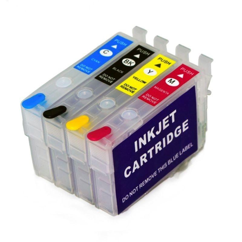 Cartuse reincarcabile pentru Epson 502XL, de capacitate mare, cu chipuri autoresetabile