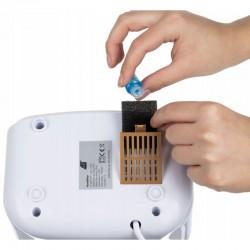 Umidificator ultrasunete cu ionizator, aromaterapie, panou tactil, telecomanda, 3 uleiuri esentiale incluse