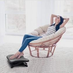 Suport ergonomic pentru picioare, inaltime ajustabila 3 pozitii, role masaj, anti-derapant