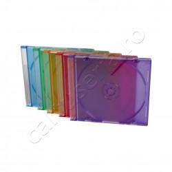 Set 25 carcase transparente Jewel pentru CD - colorate