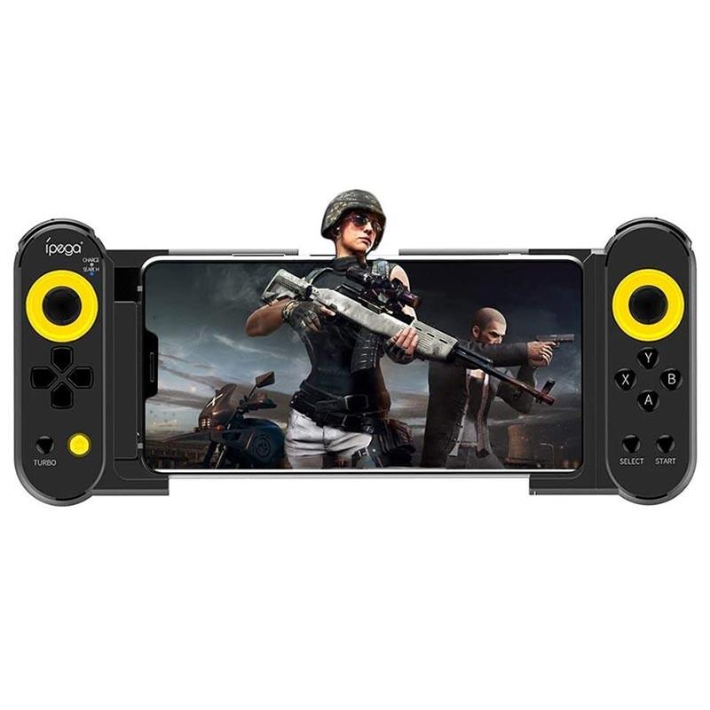 Gamepad bluetooth Dual Thorn, functie Turbo, stand telescopic 5.5-10 inch, iOS, Android, iPega