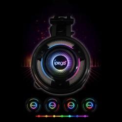 Casti gaming surround, potentiometru, microfon incorporat, jack 3.5 mm, 32 ohmi, lumina LED