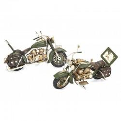 Macheta motocicleta, personalizabila, o fotografie 5x3.5cm, aspect vintage, 28x11x5 cm