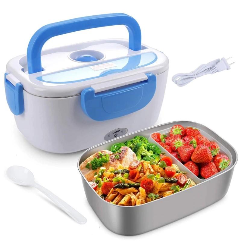 Cutie electrica incalzire pranz, lunch box multifunctional, 2 compartimente, 1 L