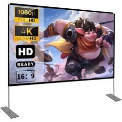Ecran proiectie, 100 inch pe  suport, format 16:9, portabil, unghi vizual larg