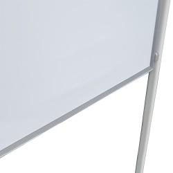 Tabla magnetica doua fete scriere, 90x120 cm, stand mobil cu blocare roti, rama aluminiu