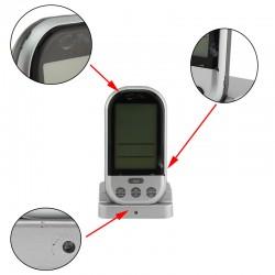 Termometru digital cu sonda, Wireless, display LCD, de bucatarie, 8 butoane