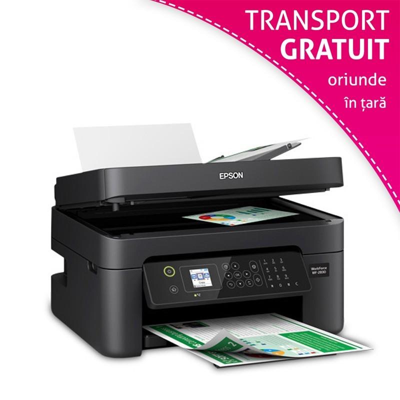 Multifunctionala InkJet Epson WorkForce WF-2830DWF, A4, Wi-Fi, duplex, fax, ADF cu cartuse reincarcabile