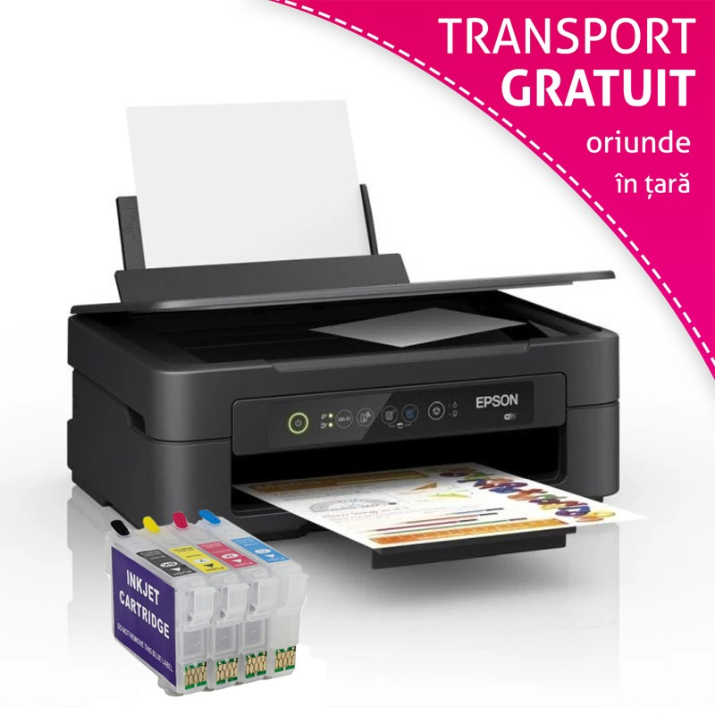 Imprimanta multifunctionala Epson Expression Home XP-2100, A4, color, Wi-Fi cu cartuse reincarcabile