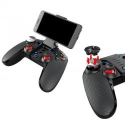 Gamepad bluetooth dualshock, vibratii, iluminat, Android, iOS, stand 6.2 inch, resigilat