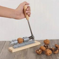 Spargator de nuci manual, otel inoxidabil, maner lemn