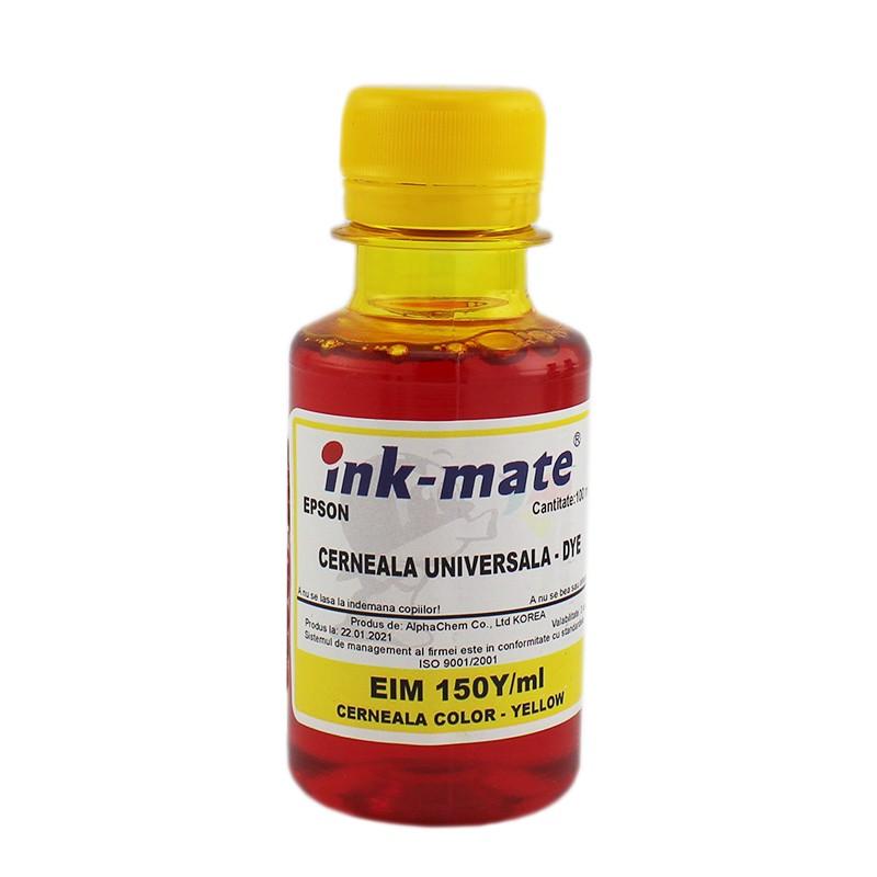 Cerneala refill universala Dye compatibila Epson, Yellow