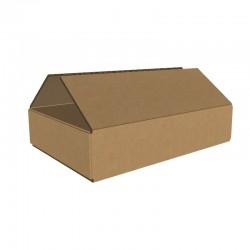 Pachet 400 cutii carton 220x150x50 mm, natur, 3 straturi, CO3