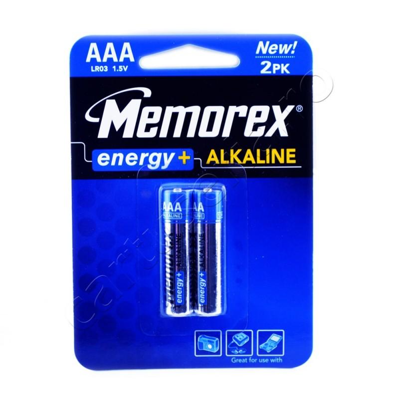 Set 2 baterii alcaline Memorex 1.5V R3