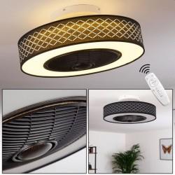 Ventilator cu lustra, pentru tavan, LED 24W, telecomanda, temporizator