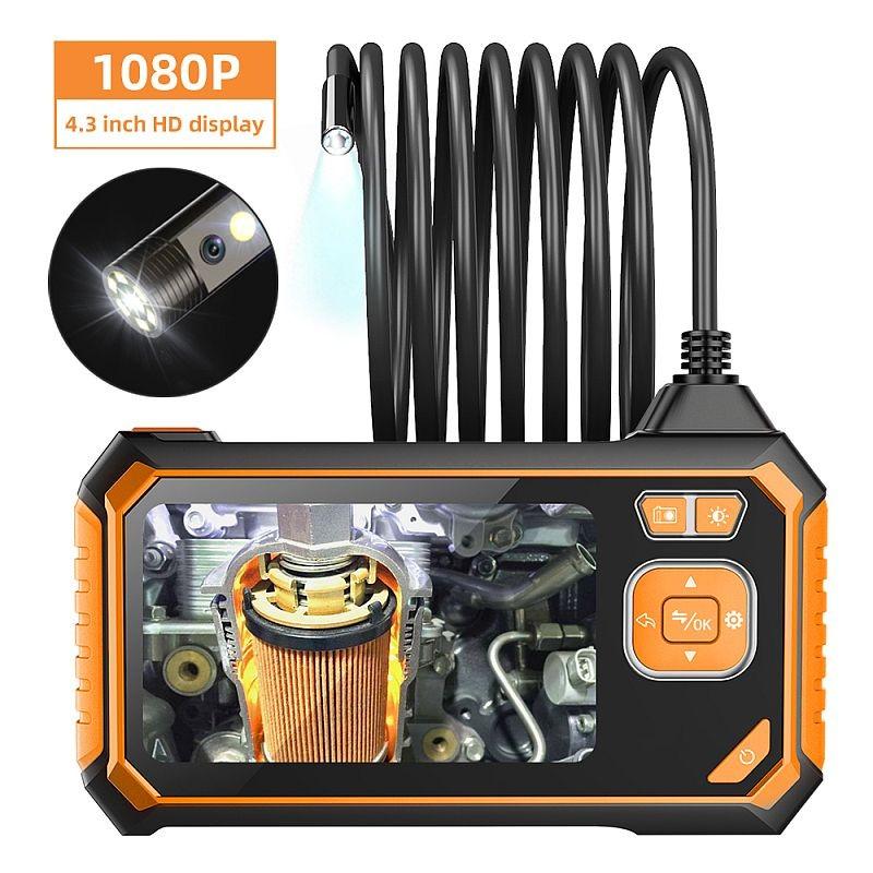 Camera endoscop foto video 8 mm, 1080P, LCD 4.3 inch, reincarcabila USB, 90 cm, IP67