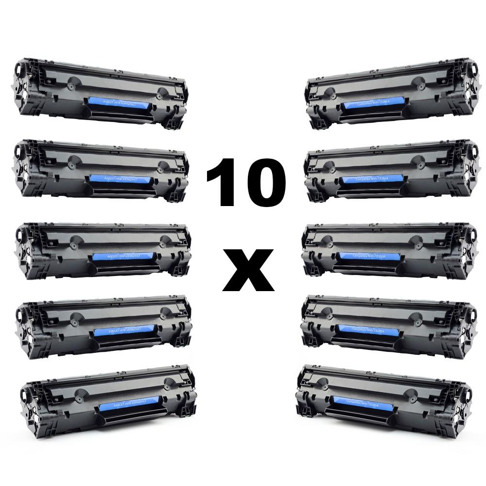 Set 10 Tonere Vrac Compatibile Ce285a 85a Black Pentru Hp