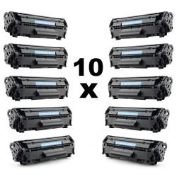 Set 10 tonere compatibile vrac AC-Q2612A AC-12A pentru HP negru