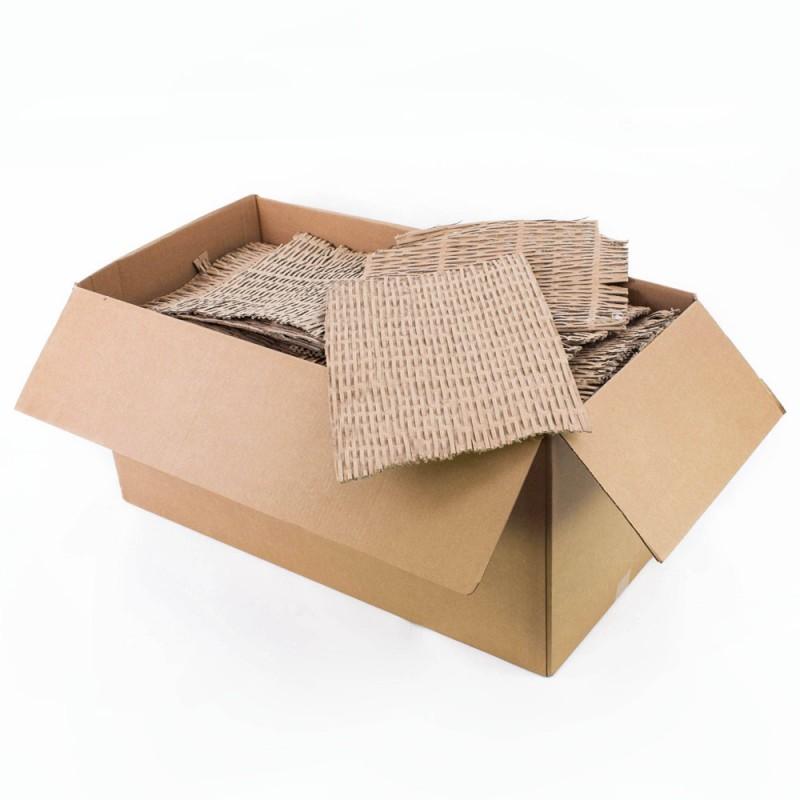 Carton ondulat franjurat pentru ambalare, cutie 30 kg, natur