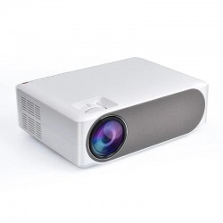 Video proiector LED Full HD, 1080P, home theater cu difuzor, USB, HDMI, AV VGA, slot SD, Jack 3.5