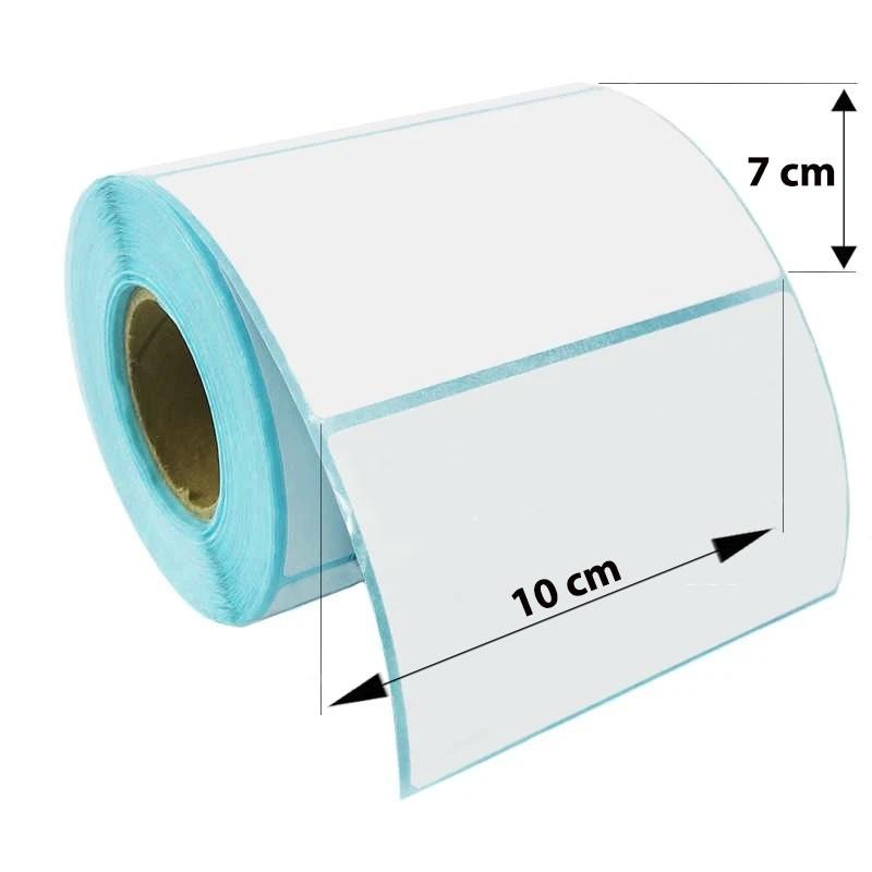 Etichete autoadezive, direct termice, albe, 10x7 cm, rola 500 etichete