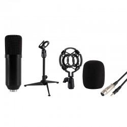 Microfon profesional de studio, cu stativ de masa, XLR- 3,5mm