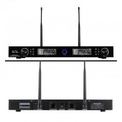 Set 2 microfoane wireless, profesionale, receiver, raza actiune 140 m, UHF